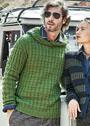 Мужской пуловер со структурным узором. Спицы