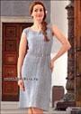 Летнее платье серебристого цвета, для пышной дамы. Крючок