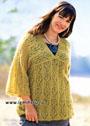 Для пышных дам. Теплый мохеровый пуловер из воздушных ажурных мотивов. Спицы