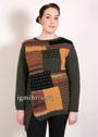 Теплый пуловер в стиле пэчворк, для пышной дамы. Спицы