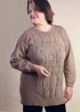 Для полных дам. Пуловер с ажурным узором. Спицы
