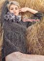 Твидовый пуловер с косами и ромбами. Спицы