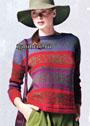 Теплый и мягкий жаккардовый пуловер из шерсти бэби альпака. Спицы