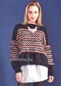 В стиле Миссони. Теплый пуловер с зигзагами. Спицы