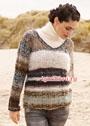 Пуловер из разных видов пряжи. Спицы