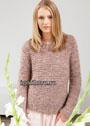 В стиле минимализма. Мохеровый пуловер в пастельных тонах. Спицы