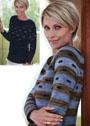 Двусторонний пуловер с графическим узором. Спицы