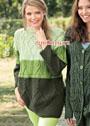 Трехцветный пуловер с миксом выразительных узоров. Спицы