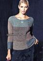 Минималистичный пуловер из геометрических мотивов. Спицы