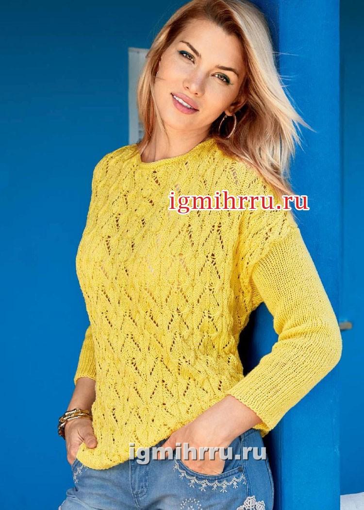 Летний ажурный пуловер