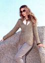 Изысканность простоты. Серо-коричневый меланжевый пуловер с зигзагами. Спицы