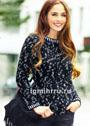 Классический черно-белый пуловер из мериносовой шерсти. Спицы