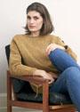 Обаяние простоты. Гладкий пуловер с рельефной отделкой. Спицы