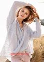 Воздушный объемный пуловер в стиле оверсайз. Спицы
