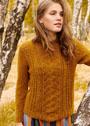Теплый пуловер с ажурным узором и дырочками. Спицы