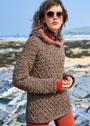 Пуловер с узорами из ромбов с шишечками. Спицы