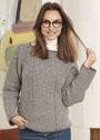 Пуловер с полосками разных направлений. Спицы