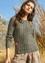 Пуловер с вязаными аппликациями Обезьянки. Спицы