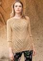 Пуловер с диагональным узором. Спицы