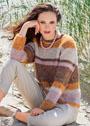 Полосатый пуловер, связанный платочной вязкой. Спицы