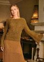 Для особых случаев: укороченный пуловер с расширяющимися рукавами. Спицы