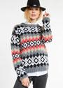 Жаккардовый пуловер с ромбами. Спицы