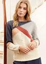 Пуловер с асимметричным узором. Спицы