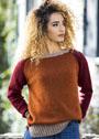 Лаконичный трехцветный пуловер-реглан. Спицы