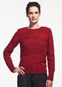 Темно-красный пуловер в стиле пэчворк. Спицы