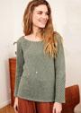 Пуловер с диагональным ажурным узором. Спицы