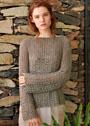 Ажурный пуловер с зубчатыми краями. Спицы