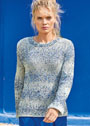 Пуловер из фасонной пряжи с шишечками. Спицы