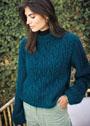 Мохеровый пуловер с ажурными узорами и шишечками. Спицы