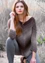 Пуловер из резинки диагонального расположения. Спицы