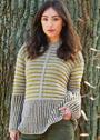 Шерстяной пуловер с двухцветными узорами. Спицы