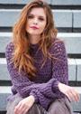 Теплый пуловер с ажурной резинкой. Спицы