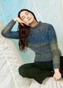 Мохеровый пуловер с ажурным узором. Спицы