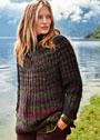 Шерстяной пуловер крупной патентной вязки. Спицы