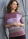 Трехцветный пуловер в технике интарсия. Спицы