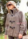 Вязаный кардиган спицами.  750 г серо-коричневой (цв. .  10) пряжи Lana Grossa ALTA MODA SUPER BABY (67% шерсти, 30...
