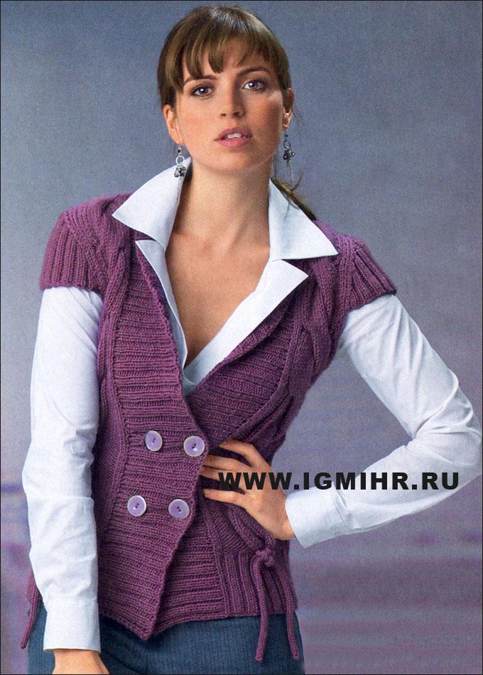 вязаные жилетки крючком. вязаные жилеты для деловых женщин