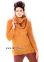 Прекрасный выбор для осени! Теплый и уютный пуловер и шарф-хомут. Спицы