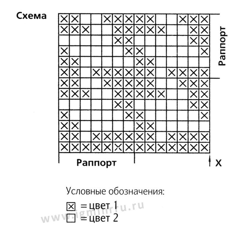 Узоры для вязания спицами гусиные лапки 253