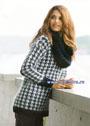 Теплый и мягкий пуловер с узором гусиные лапки и объемный снуд. Спицы