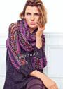 Пуловер с разноцветными рукавами и шарф-хомут. Спицы