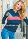 Модная многослойность! Комплект из короткого пуловера и жилета. Спицы