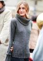Городской шик! Серый пуловер и снуд простой вязки. Спицы