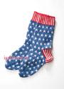 Теплые носки с рисунком из звездочек. Спицы