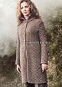 Светло-коричневое шерстяное пальто. Спицы
