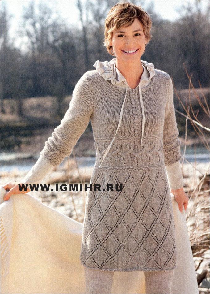 Теплое ажурное вязание